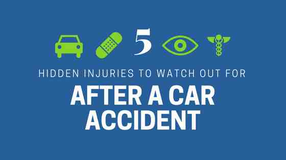 5 hidden car accident injuries